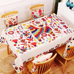Скатерть хлопчатобумажная арт.СК01,цвет: Красочная лошадь