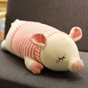 Мягкая игрушка арт.ИГ07,цвет:Розовая полосатая свинка