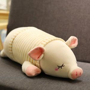 Мягкая игрушка арт.ИГ07,цвет:Светло-коричневая полосатая свинка