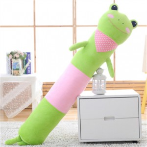 Мягкая игрушка-подушка арт.МИ09,цвет:Зеленая лягушка