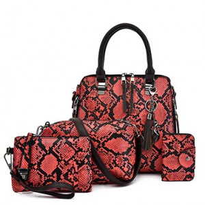 Комплект сумок из 4 предметов арт А471,цвет:красный
