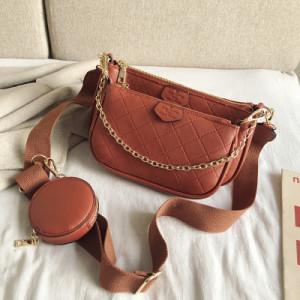 Комплект сумок из 3 предметов арт А465,цвет:оранжевый