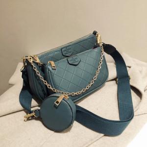 Комплект сумок из 3 предметов арт А465,цвет:сине-зеленый