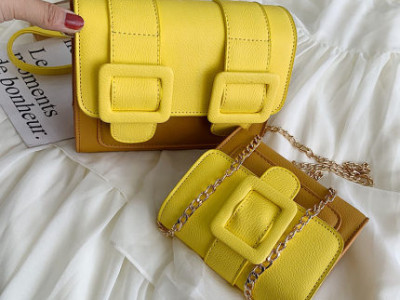 Комплект сумок из 2 сумок арт А467,цвет:коричнево-желтый