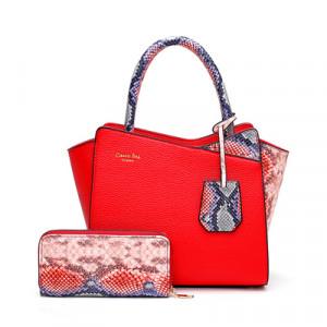 Комплект сумка и кошелек, арт А479 цвет:красный