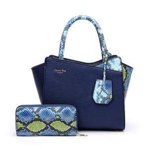 Комплект сумка и кошелек, арт А479 цвет:синий