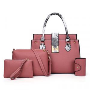 Комплект сумок из 4 предметов, арт А480 цвет:розовый