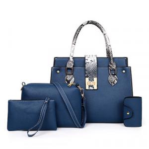Комплект сумок из 4 предметов, арт А480 цвет:синий