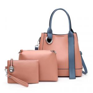 Комплект сумок из 3 предметов, арт А481 цвет:розовый