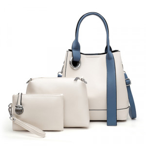 Комплект сумок из 3 предметов, арт А481 цвет:белый