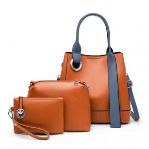 Комплект сумок из 3 предметов, арт А481 цвет:коричневый