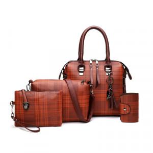 Комплект сумок из 4 предметов,арт А478 цвет:коричневый