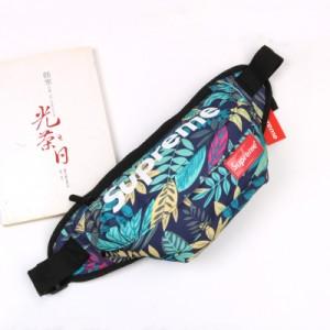 Спортивная сумка арт СС4, голубые листья