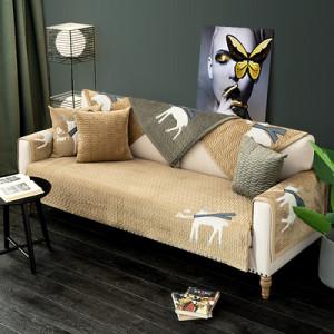 Дивандек арт ДК10 цвет: вышивка олень кофе