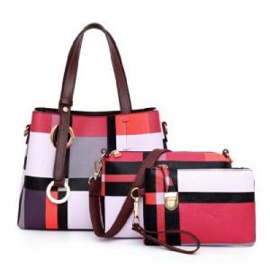 Комплект сумок из 3 предметов арт А414,цвет:красный