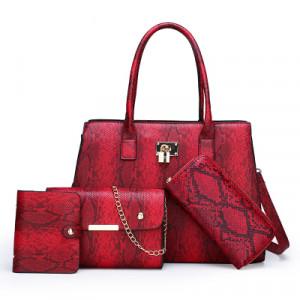 Комплект сумок из 4 предметов арт А415,цвет:вино