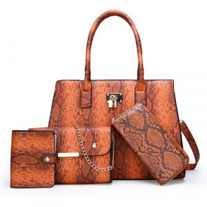 Комплект сумок из 4 предметов арт А415,цвет:светло-коричневый