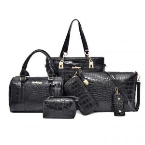 Комплект сумок из 6 предметов арт А416,цвет:черный
