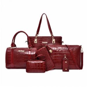 Комплект сумок из 6 предметов арт А416,цвет:вино