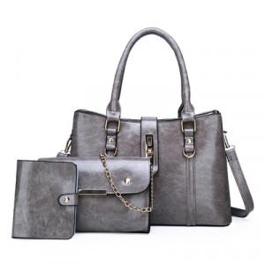 Комплект сумок из 3 предметов арт А417,цвет:серый