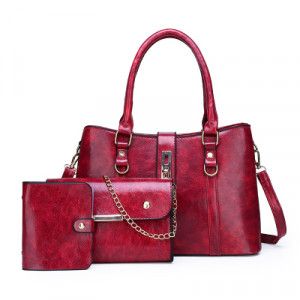 Комплект сумок из 3 предметов арт А417,цвет:вино
