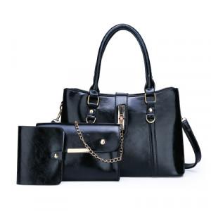 Комплект сумок из 3 предметов арт А417,цвет:черный
