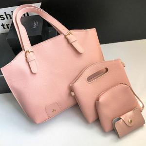 Комплект сумок из 4 предметов арт А418,цвет:розовый