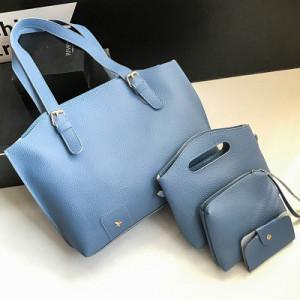 Комплект сумок из 4 предметов арт А418,цвет:синий