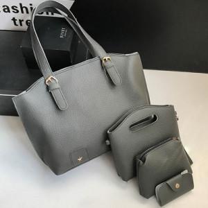 Комплект сумок из 4 предметов арт А418,цвет:темно-серый