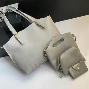 Комплект сумок из 4 предметов арт А418,цвет:светло-серый