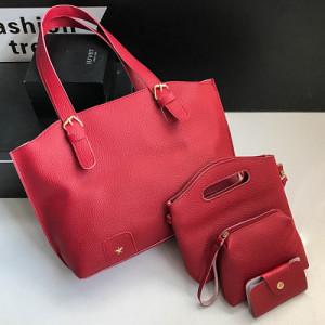 Комплект сумок из 4 предметов арт А418,цвет:красный