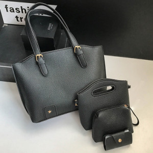 Комплект сумок из 4 предметов арт А418,цвет:черный