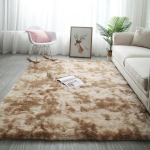 Меховые ковры арт КВ37, градиент, цвет: хаки