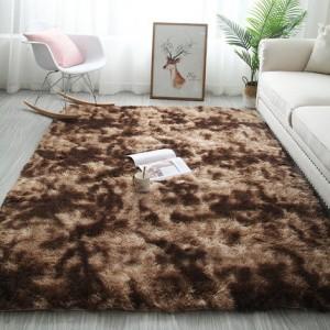Меховые ковры арт КВ37, градиент, цвет: кофе