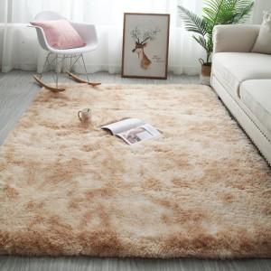 Меховые ковры арт КВ37, градиент, цвет:бежевый