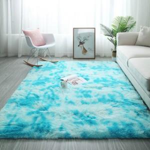 Меховые ковры арт КВ37, градиент, цвет: белая орхидея