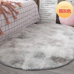 Меховые ковры арт КВ38 ОВАЛЬНЫЕ градиент, серебро