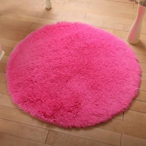 Меховые ковры КРУГЛЫЕ арт КВ40 толщина 4 см, цвет:роза