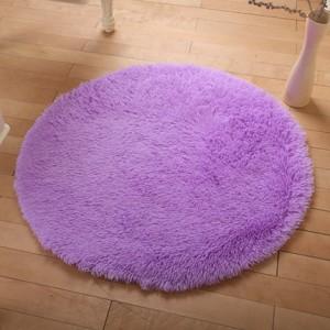 Меховые ковры КРУГЛЫЕ арт КВ40 толщина 4 см, цвет:фиолетовый