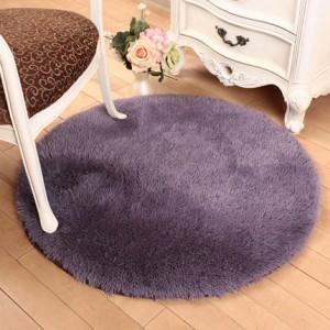 Меховые ковры КРУГЛЫЕ арт КВ40 толщина 4 см, цвет:серо-фиолетовый