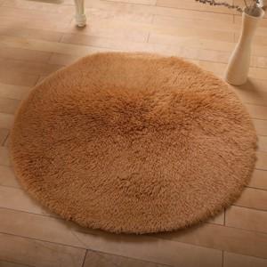 Меховые ковры КРУГЛЫЕ арт КВ40 толщина 4 см, цвет:карамельный