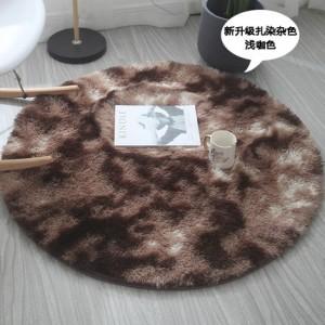 Меховые ковры КРУГЛЫЕ арт КВ40 градиент, цвет:светлый кофе
