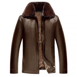 Куртка мужская арт КМ1,цвет:новый меховой в-к коричневый