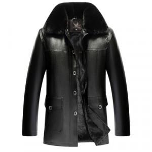 Куртка мужская арт КМ1,цвет: пять пуговиц, черный подклад