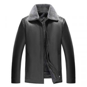 Куртка мужская арт КМ1,цвет: мех на один отворот,19 черный