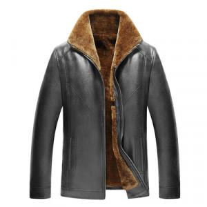 Куртка мужская арт КМ1,цвет: меховая молния 19,черный