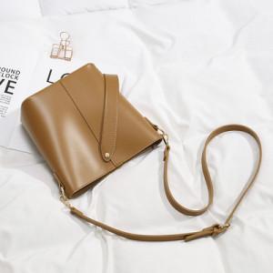 Комплект сумок из 2 предметов арт А378,цвет:коричневый