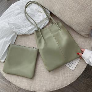 Комплект сумок из 2 предметов арт А379,цвет:зеленый