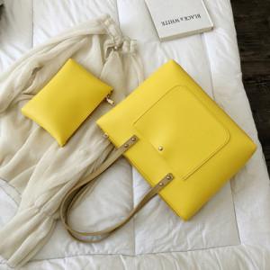 Комплект сумок из 2 предметов арт А380,цвет:желтый