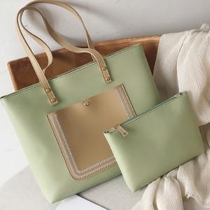 Комплект сумок из 2 предметов арт А381,цвет:зеленый
